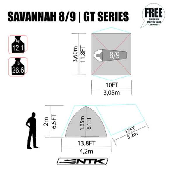 NTK savannah GT 8/9