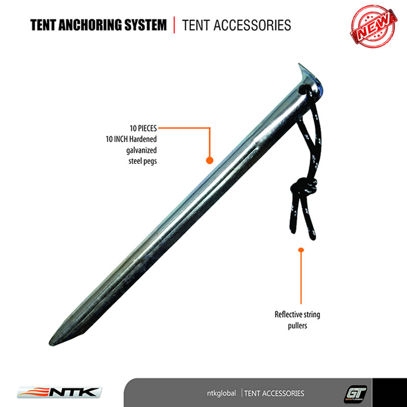 NTK Tent Sand Anchor Set  sc 1 st  NTK Global & Camping Tent Sand Anchoring Stakes | NTK USA
