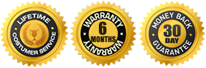 6 months warranty 30 days money back seal