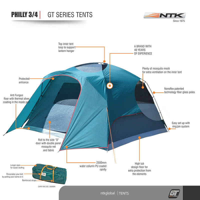 Philly GT 3/4 men dome camping tent