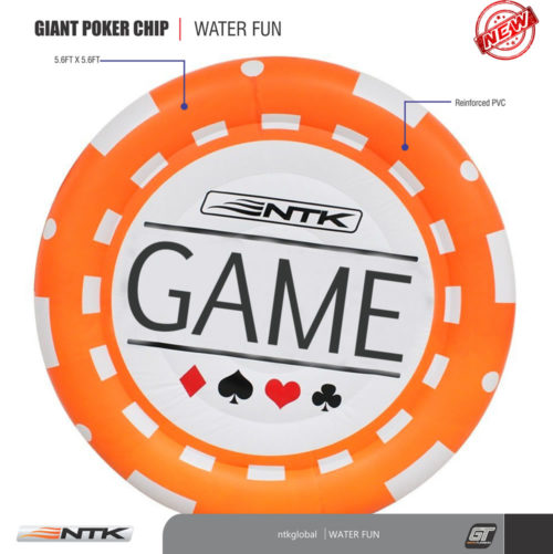 NTK Giant Inflatable Pool Poker Chip