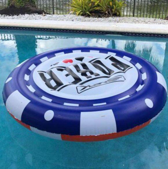 NTK Giant Poker chip Inflatable Pool Float