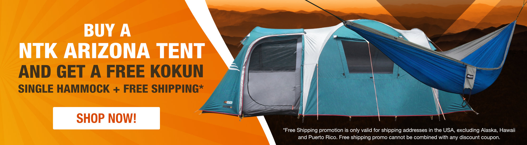 Buy An Arizona Tent and get a free Kokun single hammockBuy An Arizona Tent and get a free Kokun single hammock