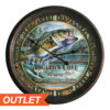 "River's Edge 15"" Rusted Bass Clock"