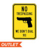 River's Edge Sign 12 x 17 - No Trespassing