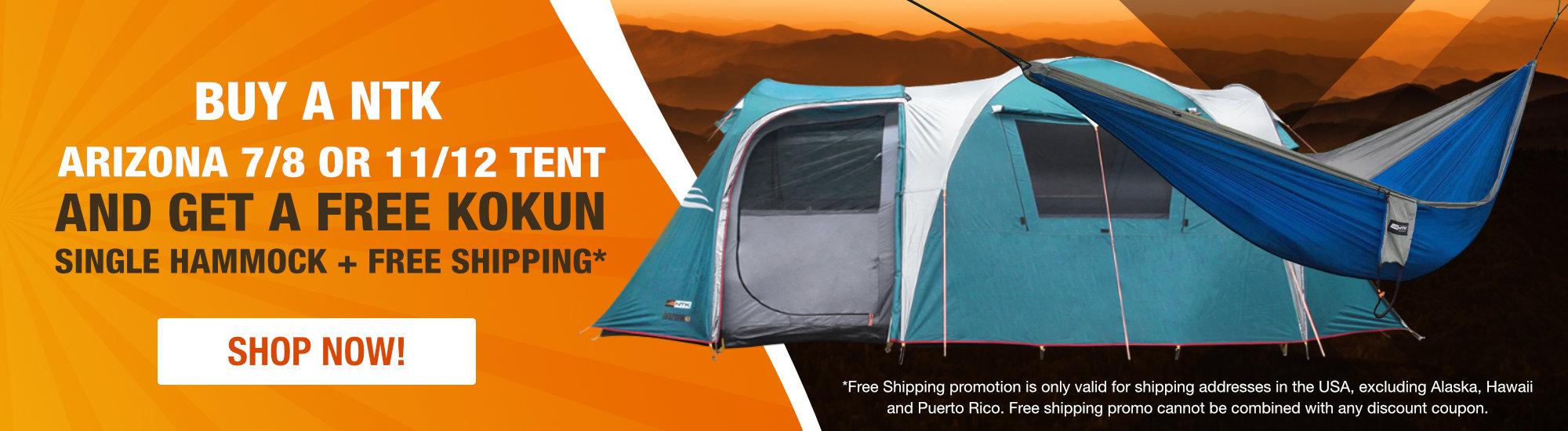 Buy Arizona Tent and Get a free Kokun Single Hammock
