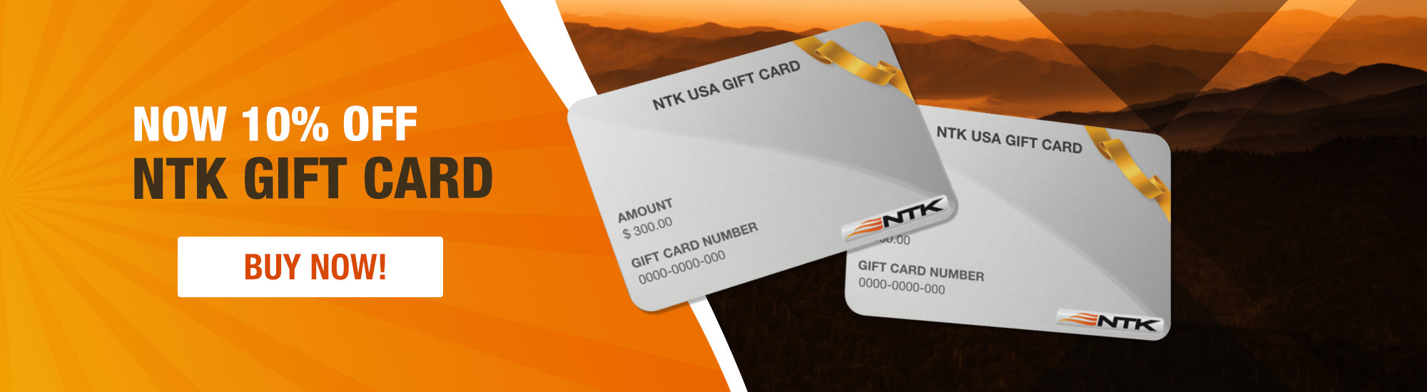 NTK Gift Card 10% Off