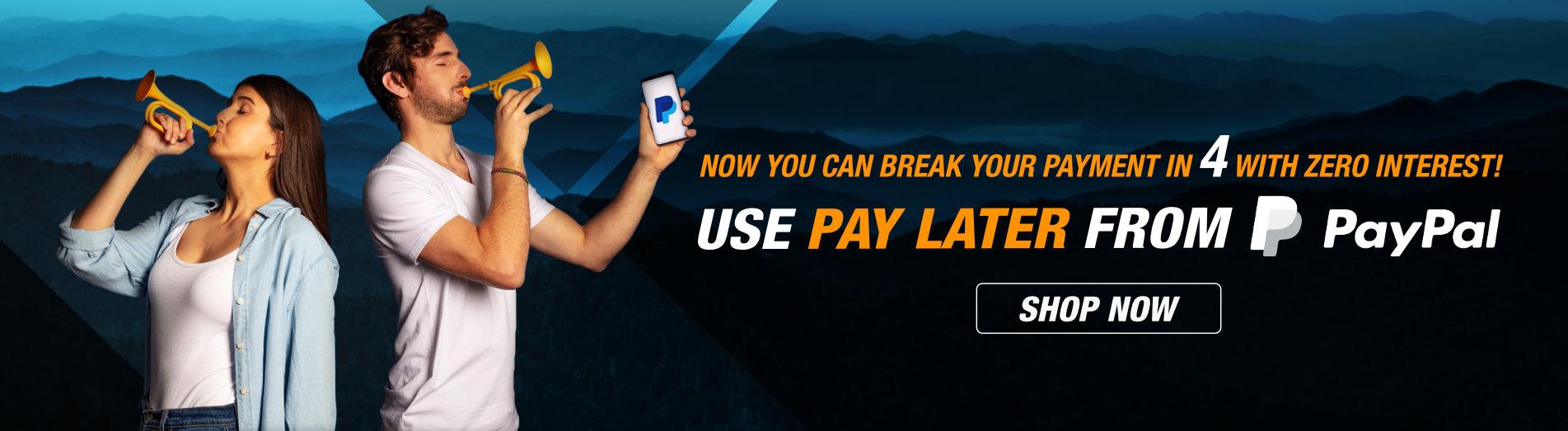Break your payment in 4 with zero interest!