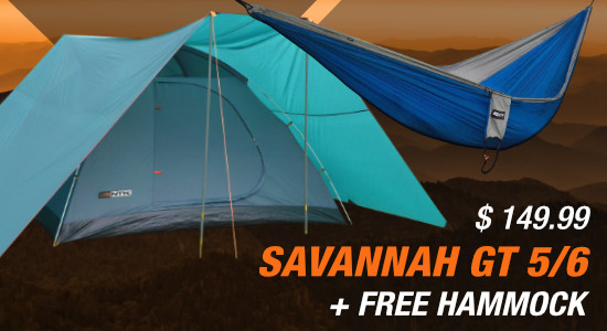 Savannah GT 5/6 Person Tent Plus Free Hammock
