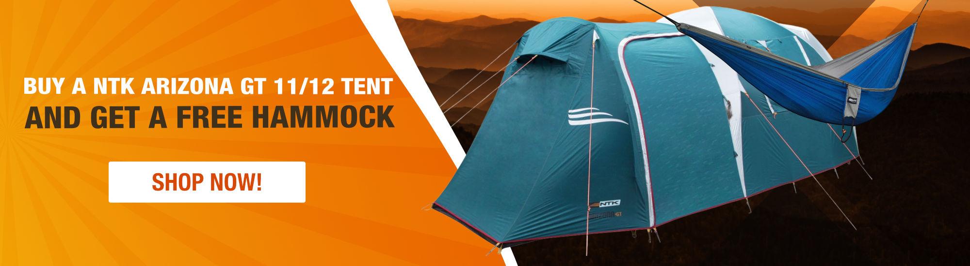 Buy a NTK Arizona GT 11/12 and get a free hammock